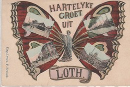 Hartelyke Groet Uit Loth-----. Femme Papillon Multi Vues----scan - Belgique