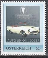 ÖSTERREICH  ** Auto Union 1000 SP - PM Personalized Stamp MNH - Autos