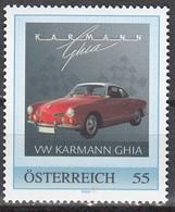 ÖSTERREICH  ** VW Karmann Ghia - PM Personalized Stamp MNH - Autos