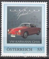 ÖSTERREICH 2008 ** VW Karmann Ghia - PM Personalized Stamp MNH - Cars
