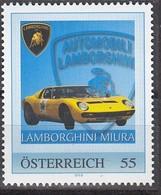 ÖSTERREICH  ** Lamborghini Miura - PM Personalized Stamp MNH - Autos