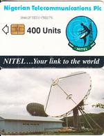 NIGERIA - Earth Station, Nigerian Telecom Plc First Issue 400 Units(3NAIFIE), Chip Sie 37, Used - Nigeria