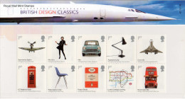 GREAT BRITAIN 2009 British Design Classics Presentation Pack - Presentation Packs