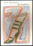 """Carte Postale édition """"Carte à Pub"""" - Massaro, Une Dynastie De Bottiers (ill. K. Lagerfeld) Musée De La Chaussure Romans - Publicité"""