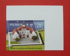 Poland 2016 - Mint MNH ** - Mi 4866 A , Fi 4716 B - Imperforated, Non Dentelé, Ungezähnt Ilawa PZF - Pologne Polen - 367 - 1944-.... République