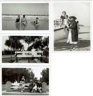 4 Photos - 1934 - Knocke - Le Zoute - 2 Scans - Lieux