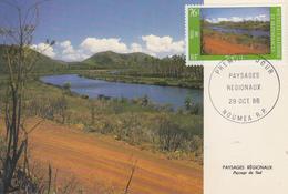 Carte  Maximum  1er  Jour   NOUVELLE  CALEDONIE   Paysages  Régionaux   1986 - Cartes-maximum