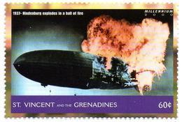 ST VINCENT 1v MNH**  Hindenburg Disasters Airships Zeppelin Aviation Luftfahrt Aviación Aviazione Luftschiffe - Zeppelins