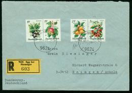 BR Austria Registered Cover Sent To Germany, BRD | Egg 15.12.1966 - 1945-.... 2nd Republic