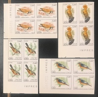 Algeria/Algerie Imperf Oiseaux YT667-670 En Blocs Neuf**/MNH - Algeria (1962-...)