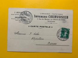 22136 - La Chaux De Fonds L'Impartial Imprimerie Courvoisier Pour Bienne 1911 - NE Neuchâtel