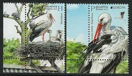 "BIELORRUSIA /BELARÚS /WEISSRUSSLAND - EUROPA 2019 -NATIONAL BIRDS.-""AVES -BIRDS -VÖGEL-OISEAUX""- SERIE CH-IZQ - 2019"