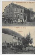 67 BERG . Grüss , 2 Clichés ,Wirtschaft Zur Traube Von Heinr Klein , édit : Viktor's Künstverlag , Années 10 ,état Extra - Autres Communes