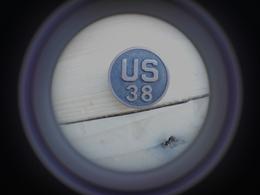 Disque De Col US 38, US, Disque De Col 38ème Régiment D'infanterie, Disque De Col Américain Régimentaire. - 1914-18