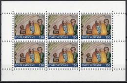 """Vaticano 1991 Bf. 897 Lunette Cappella Sistina """"Giuseppe"""" Affresco Dipinto Quadro Michelangelo MNH Sheet Di 6 + Brossura - Religione"""