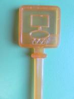 236 - Touilleur - Agitateur - Mélangeur à Boisson - Les Sports - Basket Ball - Orange - Swizzle Sticks