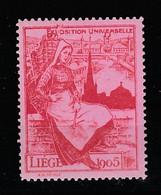 V-340 1905 Liege Exposition Universelle Vignette MNH** - Universal Expositions
