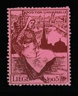 V-342 1905 Liege Exposition Universelle Vignette MNH** - Universal Expositions