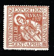V-308 1907 Gand Exposition Universelle Et Internationale Vignette MNH** - Universal Expositions