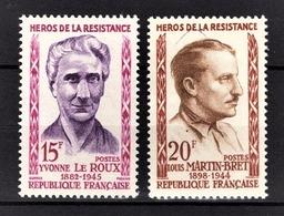 FRANCE 1959 -  Y.T. N° 1199 ET 2001 - NEUFS** - Neufs