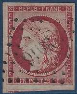 France Céres N°6 1fr Carmin Obl PC 3016 De Saint-Cere Superbe Signé Brun - 1849-1850 Ceres