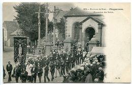 PLOUGUERNEAU ( Environs De Brest ) Procession Des Saints ( Bannière ) Non écrite - Très Bon état - Plouguerneau