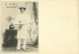India, Native Table Servant (1899) Clifton & Co. Court Card - India