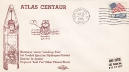 Sc#1208, Atlas-Centaur Rocket Test Flight, Surveyor Lunar Landing Test, Cape Canaveral Cover - FDC & Commemoratives