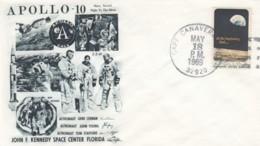 Apollo 10 Mission, Astronauts Cernan, Young And Stafford Illustration 1969 Cover - FDC & Conmemorativos