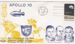 Apollo 10 Mission, Intelsat III, Astronauts Cernan, Young And Stafford Illustration 1969 Cover - Etats-Unis