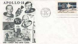 Apollo 16 Mission, Astronauts Young, Duke And Mattingly, Moon Rover Illustrated 1972 Cover - Etats-Unis