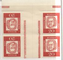 PIA - GERMANIA - 1961-64 : Celebrità Tedesche - J.S. Bach   - (Yv 225b X 2) - Musica