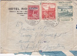1954 COMERCIAL COVER- HOTEL RIO. CIRCULEE COLOMBIA TO ARGENTINE - BLEUP - Colombie