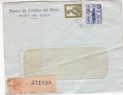 1940'S COMERCIAL COVER- BANCO DE CREDITO DEL PERU. CIRCULEE, REGISTERED - BLEUP - Pérou