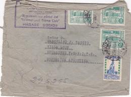1951 COMERCIAL COVER- HORACIO LLERENA VALENCIA. CIRCULEE PERU TO ARGENTINE - BLEUP - Peru