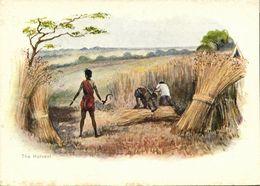 British India, The Harvest (1899) Artist Signed Court Card - India