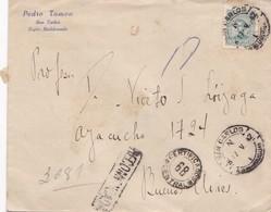 1942 COMMERCIAL COVER- PEDRO TAMON. CIRCULEE URUGUAY TO ARGENTINE. REGISTERED, LACRE - BLEUP - Uruguay