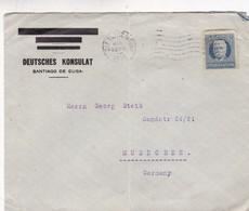 1925 COMMERCIAL COVER- DEUTCHES KONSULAT. CIRCULEE CUBA TO GERMANY - BLEUP - Cuba