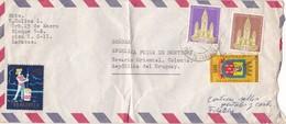 1950'S AIRMAIL COVER. CIRCULEE VENEZUELA TO URUGUAY. MIXED STAMPS - BLEUP - Venezuela