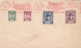 1935 COVER MIXED STAMPS FRANKING MACHINE CESKOSLOVENSKO  - BLEUP - Briefe U. Dokumente