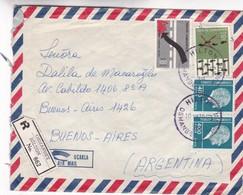 1939 AIRMAIL COVER MIXED STAMPS- CIRCULEE TURKEY TO ARGENTINE, REGISTERED  - BLEUP - 1921-... République