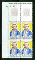 James Cook, Bloc De Coin Daté / Corner Block With Date. Timbre Scott Stamp # 66.  T.A.A.F. (2299) - Terres Australes Et Antarctiques Françaises (TAAF)