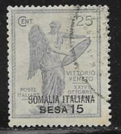 Somalia Scott # 31 Used Italy Victory Stamp Surcharged, 1922 - Somalia
