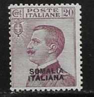 Somalia Scott # 86 Mint Hinged Italy 1926 Stamp Overprinted, 1926 - Somalia