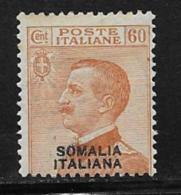 Somalia Scott # 89 Mint Hinged Italy 1926 Stamp Overprinted, 1926 - Somalia