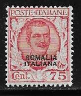 Somalia Scott # 90 Mint Hinged Italy 1926 Stamp Overprinted, 1926, CV$125.00 - Somalia