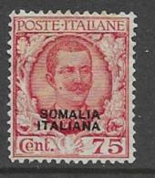 Somalia Scott # 90 Unused No Gum Italy 1926 Stamp Overprinted, 1926, CV$125.00 - Somalia