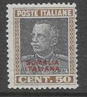 Somalia Scott # 101 MNH  Italy 1927 Stamp Overprinted, 1928, CV$47.50 - Somalia