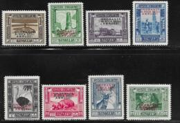 Somalia Scott # 156-63 Mint Hinged 1934 Stamps Overprinted For Duke Of The Abruzzi, 1934, CV$168.00, Hinge Remnants - Somalia