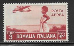 Somalia Scott # C14 Mint Hinged Girl Watching Plane, 1936, CV$26.00 - Somalia